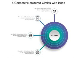 4 Concentric Coloured Circles With Icons