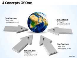 4 Concepts Of One Powerpoint Slides Presentation Diagrams Templates