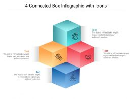 4 Connected Box Infographic With Icons
