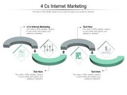 4 Cs Internet Marketing Ppt Powerpoint Presentation Infographics Maker Cpb
