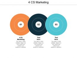 4 CS Marketing Ppt Powerpoint Presentation Pictures Information Cpb