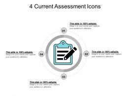 4 Current Assessment Icons PPT Example File