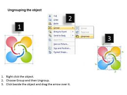 4 Curved Arrows Interconnected Data Flow Ppt Powerpoint Slides