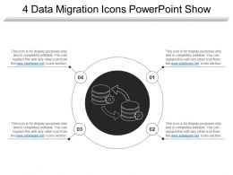 4 Data Migration Icons Powerpoint Show