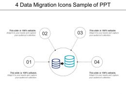 4 Data Migration Icons Sample Of Ppt