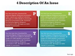 4 description of an Issue pest analysis powerpoint diagram templates graphics 712