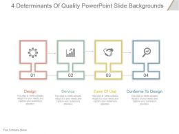 4 Determinants Of Quality Powerpoint Slide Backgrounds