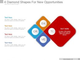 4 Diamond Shapes For New Opportunities Example Of Ppt Presentation