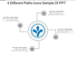 4 Different Paths Icons Sample Of Ppt