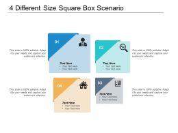 4 Different Size Square Box Scenario