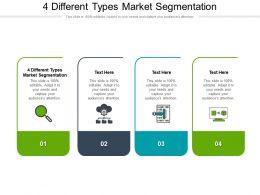 4 Different Types Market Segmentation Ppt Powerpoint Presentation Portfolio Inspiration Cpb