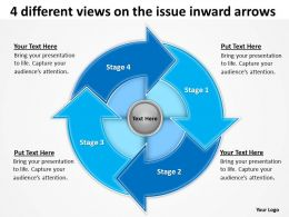 4_different_views_on_the_issue_inward_arrows_ppt_slides_diagrams_templates_powerpoint_info_graphics_Slide01