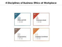 4 Disciplines Of Business Ethics At Workplace