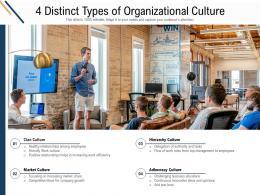 4 Distinct Types Of Organizational Culture