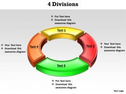 4 Divisions powerpoint slides templates infographics images 1121