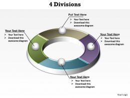 4 divisions segments of a circle powerpoint diagram templates graphics 712