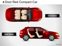 4_door_red_car_top_view_powerpoint_presentation_slides_Slide01