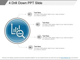 4 Drill Down Ppt Slide