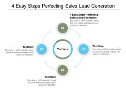 4 Easy Steps Perfecting Sales Lead Generation Ppt Powerpoint Presentation Pictures Visual Aids Cpb
