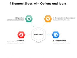 4 Element Slides With Options And Icons