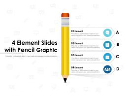 4 Element Slides With Pencil Graphic