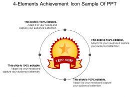 4 Elements Achievement Icon Sample Of Ppt