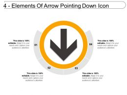 4 Elements Of Arrow Pointing Down Icon