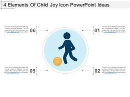 4 Elements Of Child Joy Icon Powerpoint Ideas