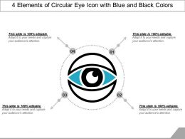 4 Elements Of Circular Eye Icon With Blue And Black Colors