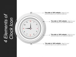 4 Elements Of Clock Icon Powerpoint Slide Download