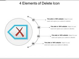 4 Elements Of Delete Icon