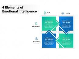 4 Elements Of Emotional Intelligence