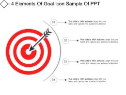 4 Elements Of Goal Icon Sample Of Ppt