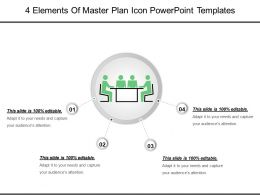 4 Elements Of Master Plan Icon Powerpoint Templates
