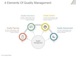 Quality assurance powerpoint templates quality assurance plan ppt 4 elements of quality toneelgroepblik Image collections