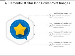 4 Elements Of Star Icon Powerpoint Images