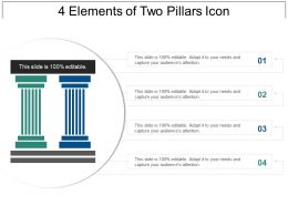 4 Elements Of Two Pillars Icon Powerpoint Slide