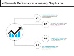 4 Elements Performance Increasing Graph Icon