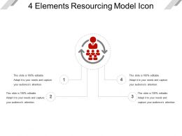 4_elements_resourcing_model_icon_ppt_slide_styles_Slide01