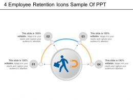 4 Employee Retention Icons Sample Of PPT