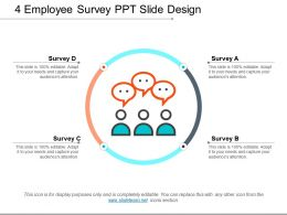 4 Employee Survey Ppt Slide Design
