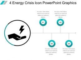 4 Energy Crisis Icon Powerpoint Graphics