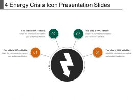 4 Energy Crisis Icon Presentation Slides