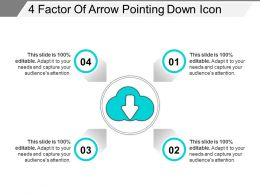 4 Factor Of Arrow Pointing Down Icon