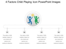 4 Factors Child Playing Icon Powerpoint Images