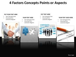 4 factors concepts points or aspects powerpoint templates 3