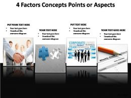 4 factors concepts points or aspects powerpoint templates
