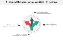 4 Factors Of Business Journey Icon Good Ppt Example