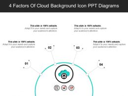 4 Factors Of Cloud Background Icon Ppt Diagrams