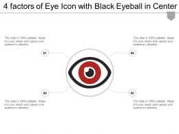 4 Factors Of Eye Icon With Black Eyeball In Center